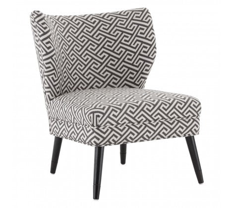 Abbotsleigh Black and Grey Geometric Print Chair