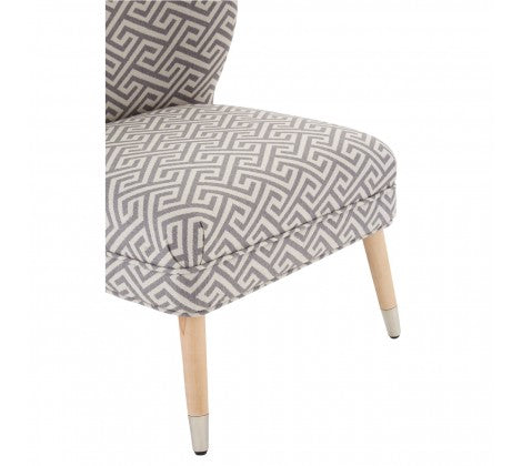 Abbotsleigh Grey and Beige Geometric Print Chair
