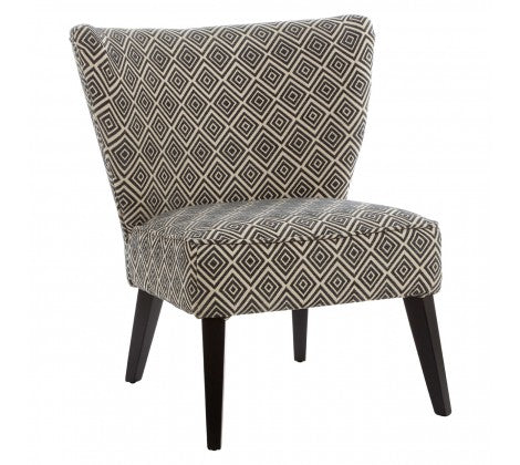 Abbotsleigh Black and Beige Tapered Chair