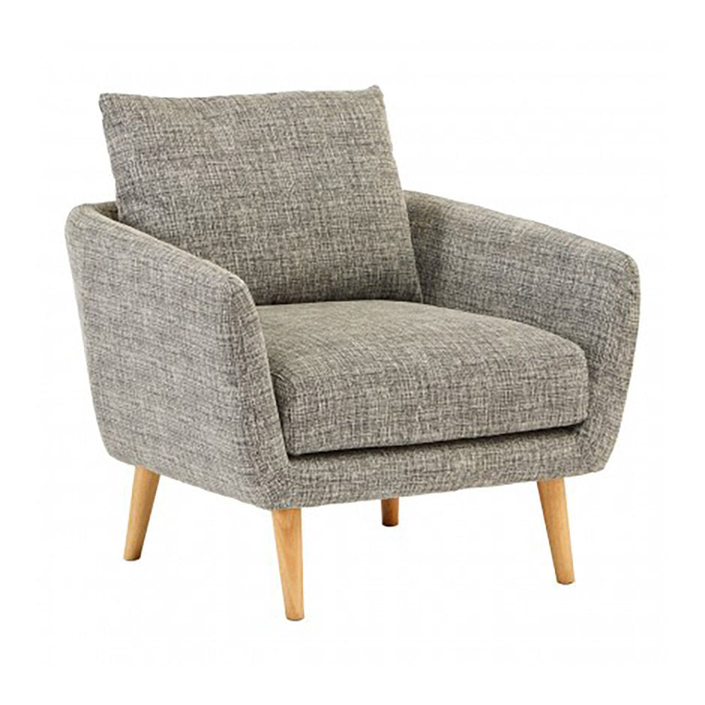 Ubley Grey Twill Armchair