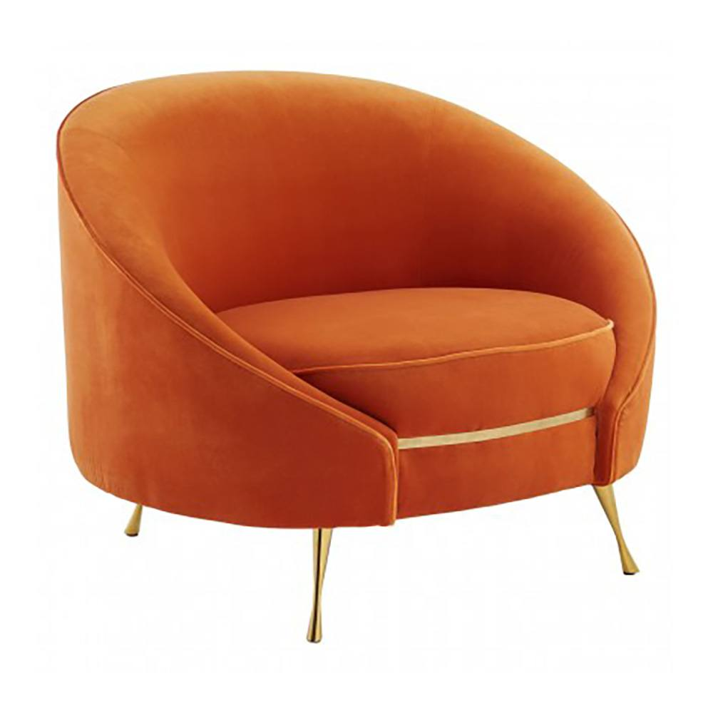 Cotterell Burnt Orange Velvet Chair