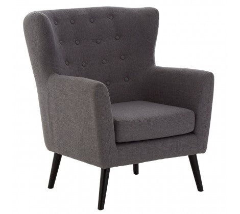 Blagdon Grey Fabric Armchair