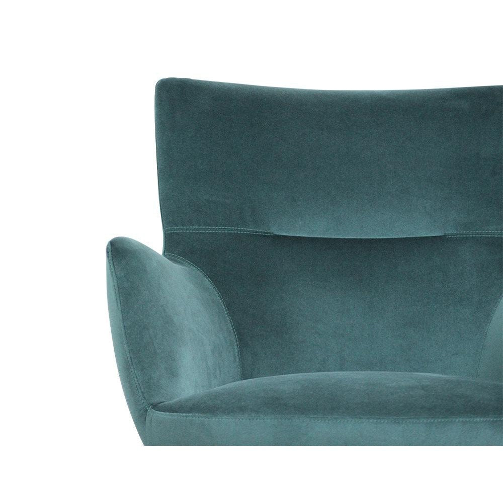 Claverton Deep Fern Velvet Armchair