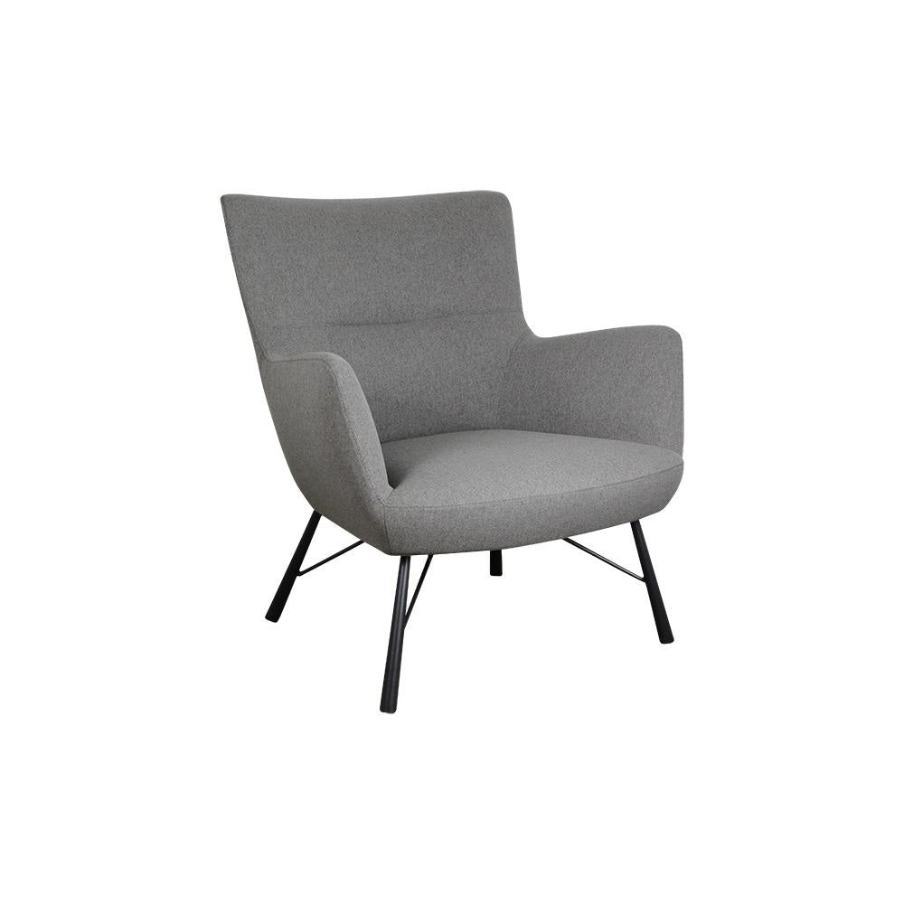 Claverton Light Grey Fabric Armchair