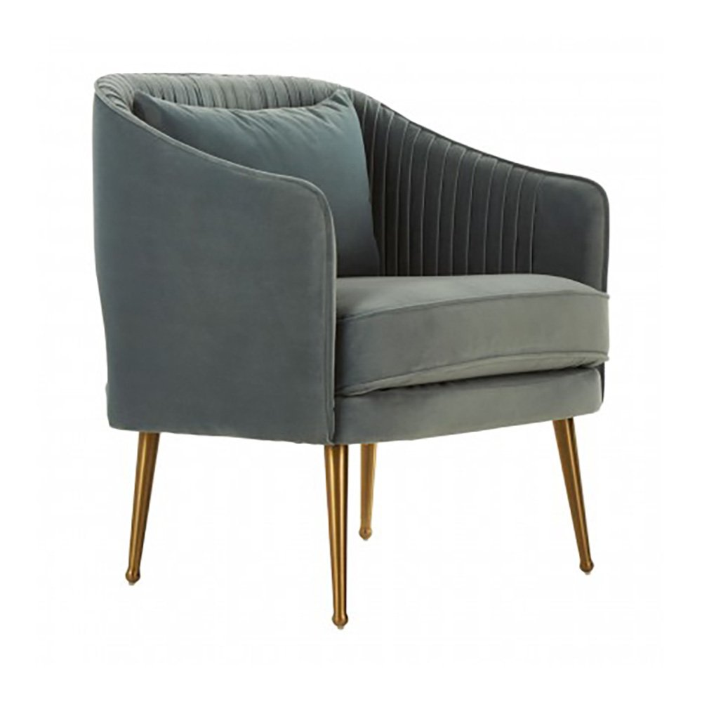 Tetbury Slate Blue Velvet Chair