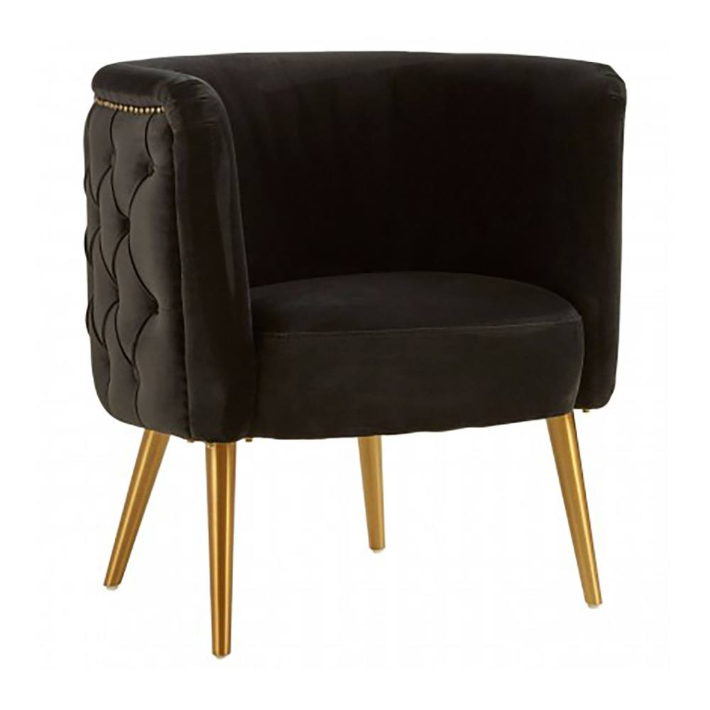 Martin Black Velvet Tub Chair