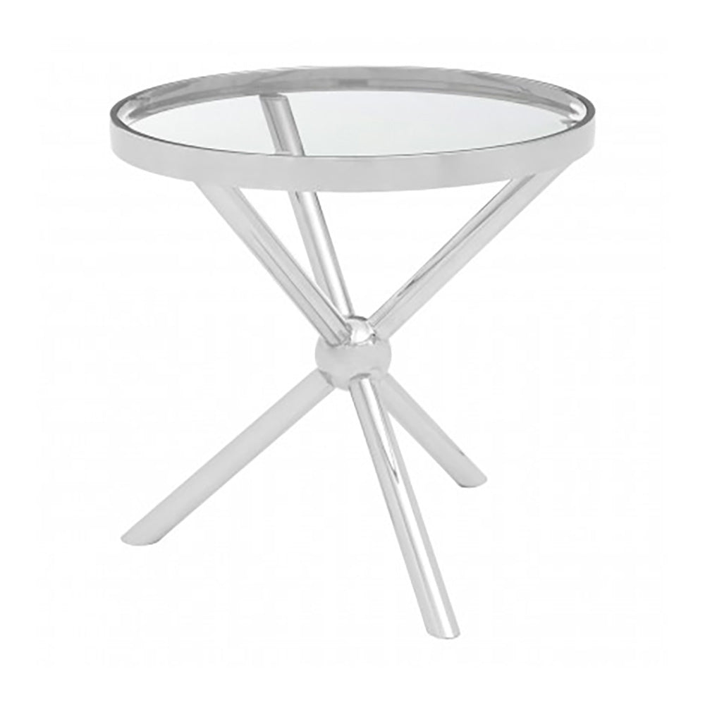 Kingcote Silver Round Side Table