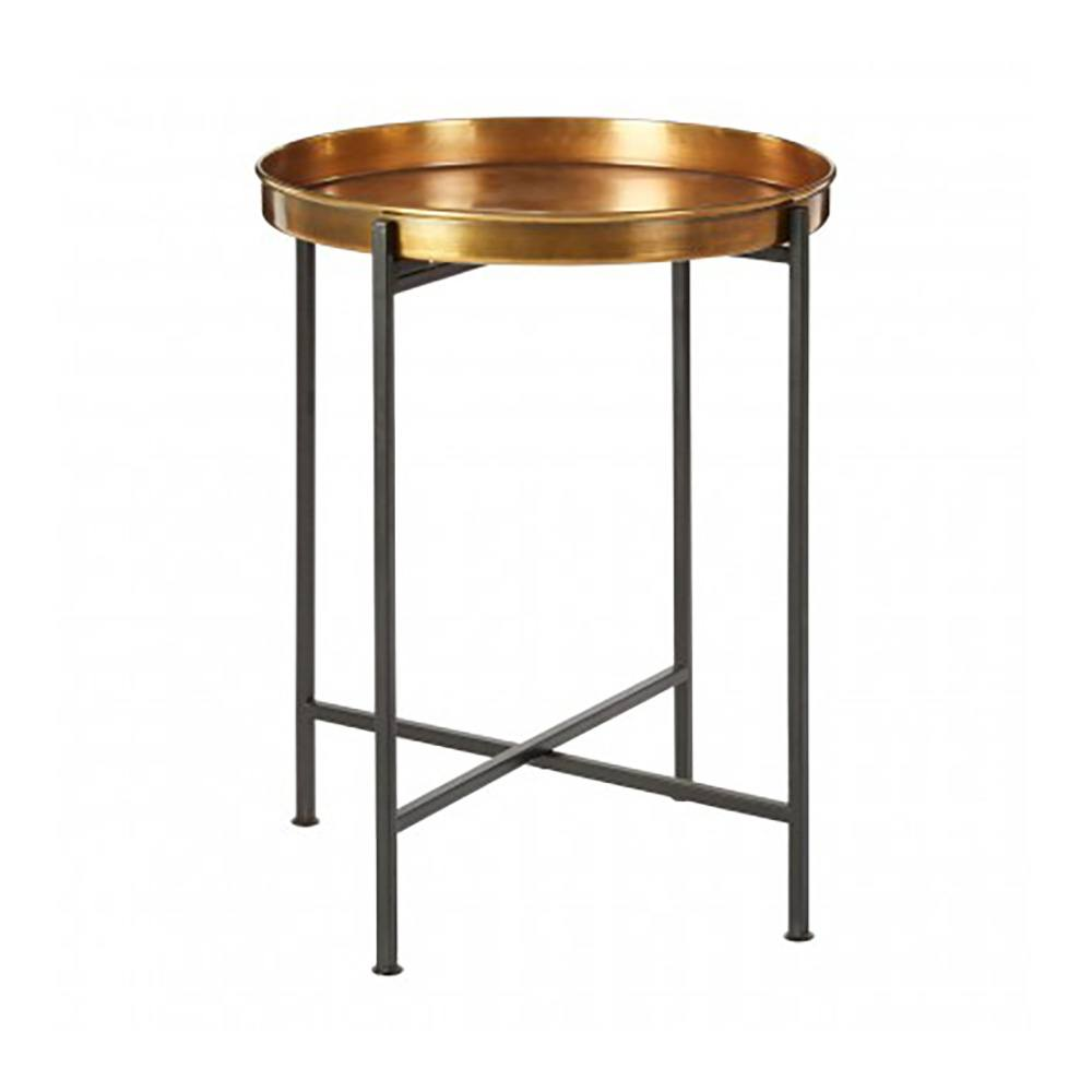 North Stoke Round Metal Side Table