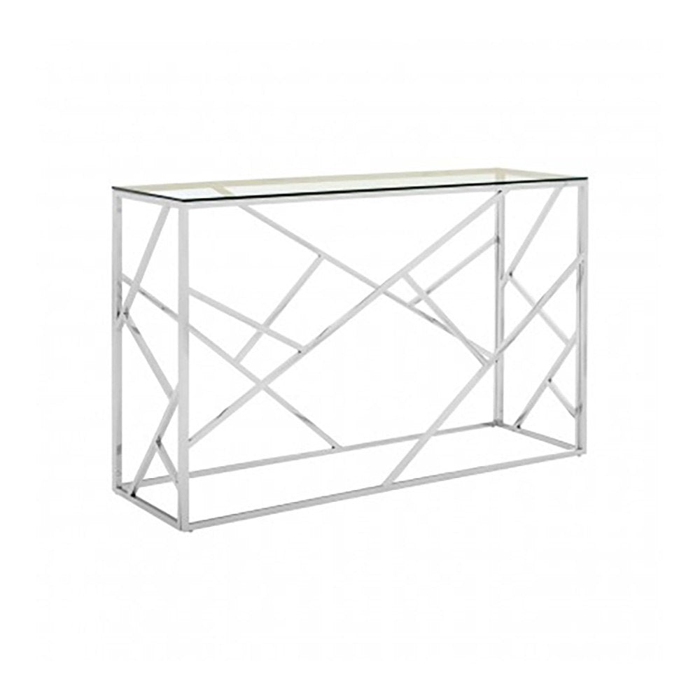 Henbury Silver Asymmetrical Console Table