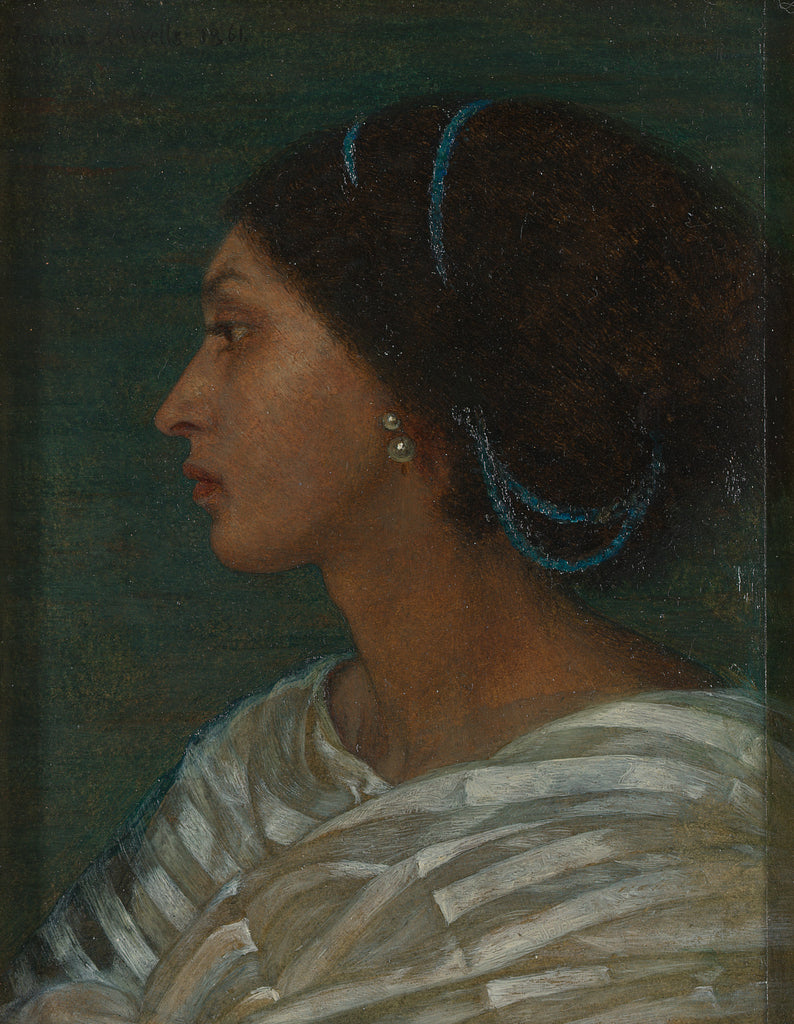 Joanna Boyce Wells, 1831–1861, British, Fanny Eaton, 1861, Oil on paper laid to linen, Yale Center for British Art, Paul Mellon Fund, B1991.29
