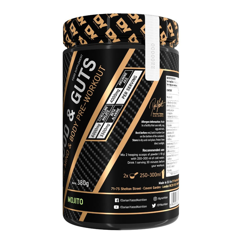 Pre-Workout Blood and Guts 380g, 20 Servings