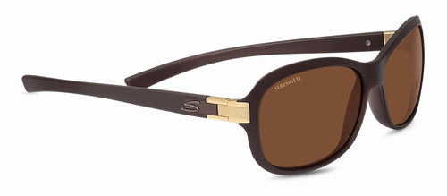 Serengeti Isola 7942 Sanded Crystal Brown Mineral Polarized Drivers Sunglasses