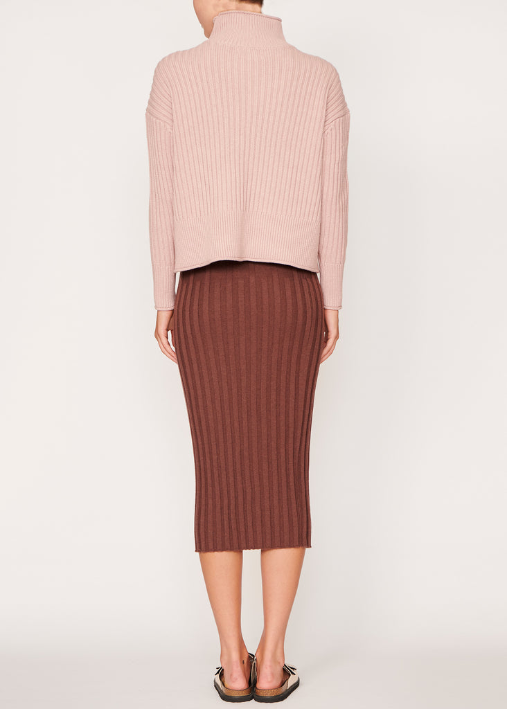 Lou Chunky Ribbed Knit - Pink
