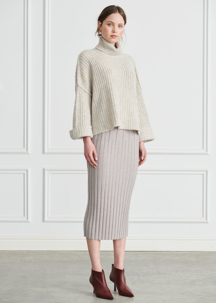 Jed Cropped Mohair Turtleneck