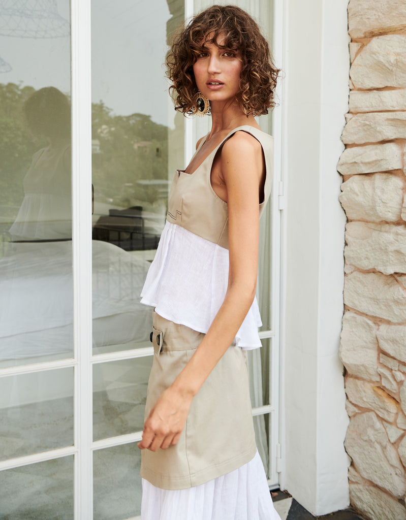 Splice Cropped Tank by Apartment Clothing