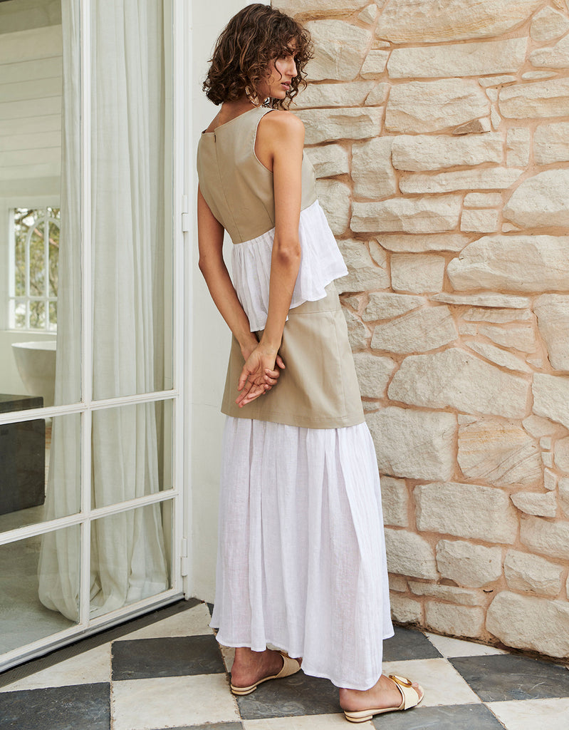 Splice Cropped Tank and Splice Maxi Skirt by Apartment Clothing