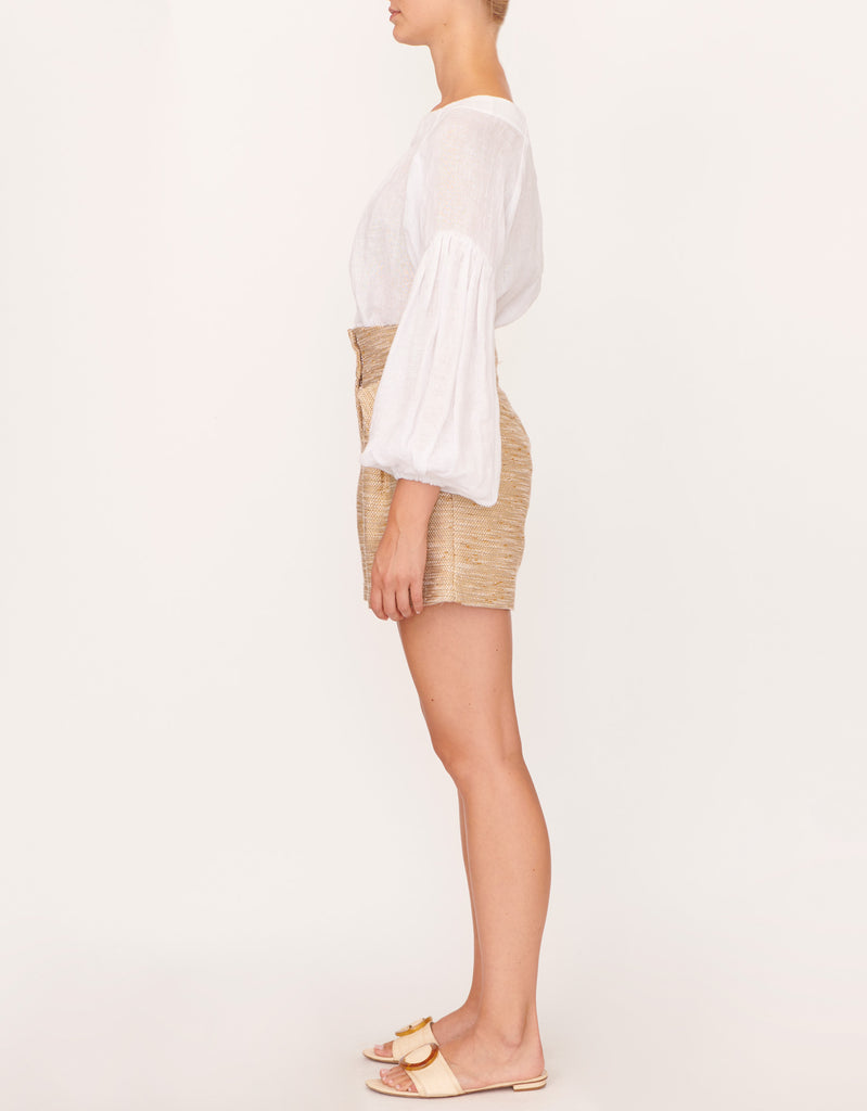 Romantic Full Sleeve Top and Textured Tailored Short by Apartment Clothing