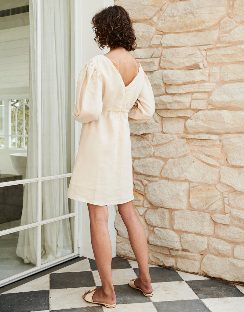 Beech Linen Empire Dress by Apartment Clothing