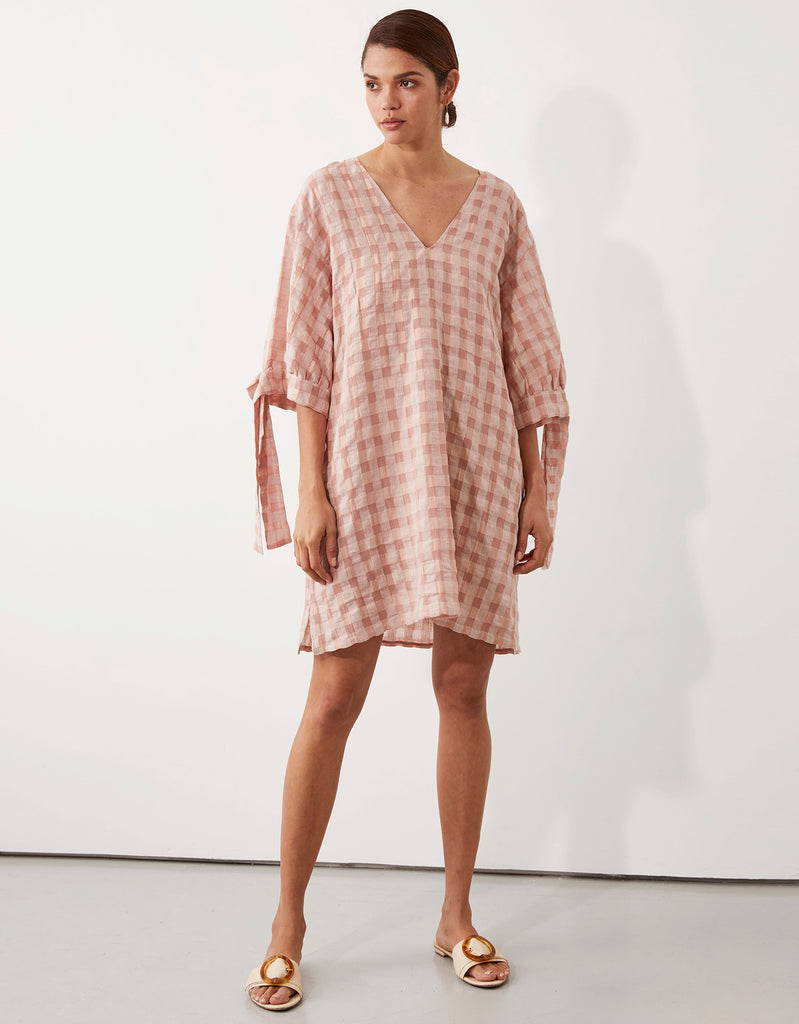 Zoey Tie Sleeve Dress by Apartment Clothing