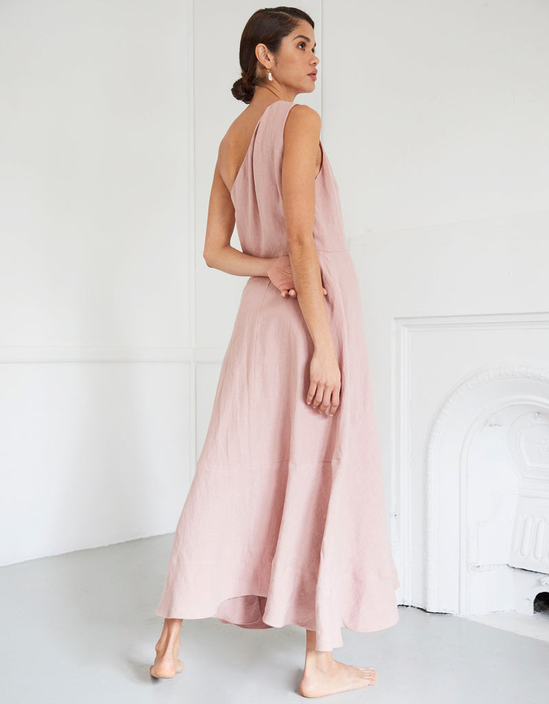 Milla Off Shoulder Dress in Pink by Apartment Clothing