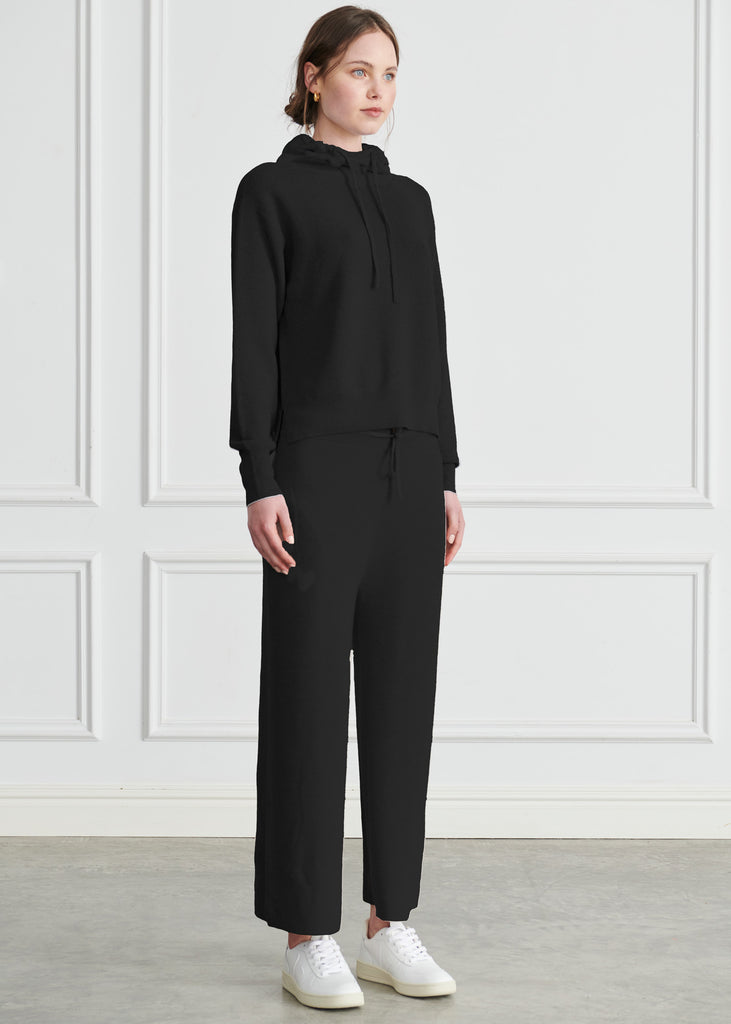 Holly Merino Wide Leg Pant - Black
