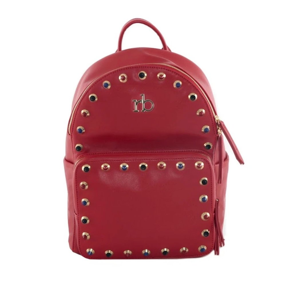 Roccobarocco Studded Backpack ASH - Red