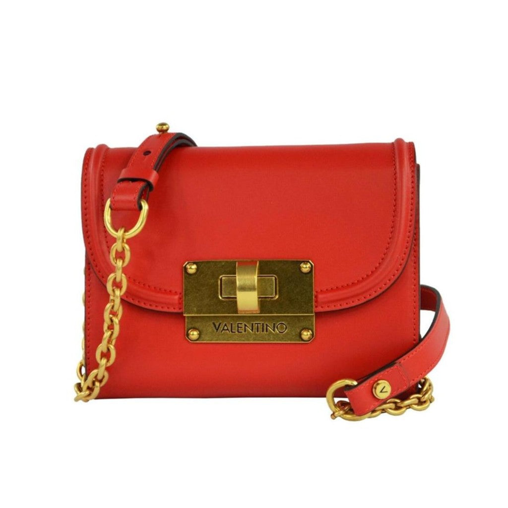 Valentino Bags by Mario Valentino CHICAGO Red Leather Handbag