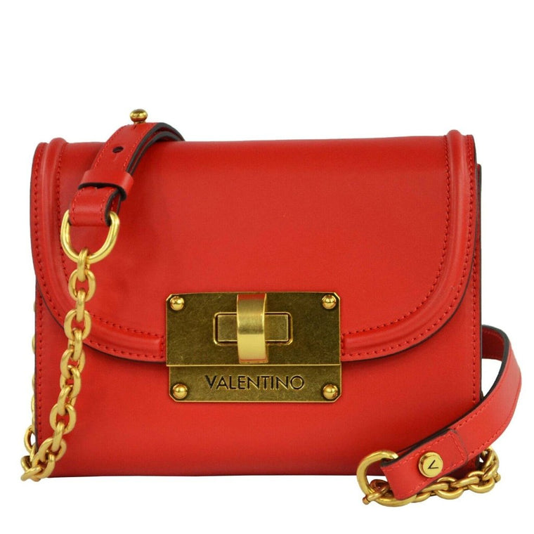 Valentino by Mario Valentino CHICAGO Red Leather Handbag