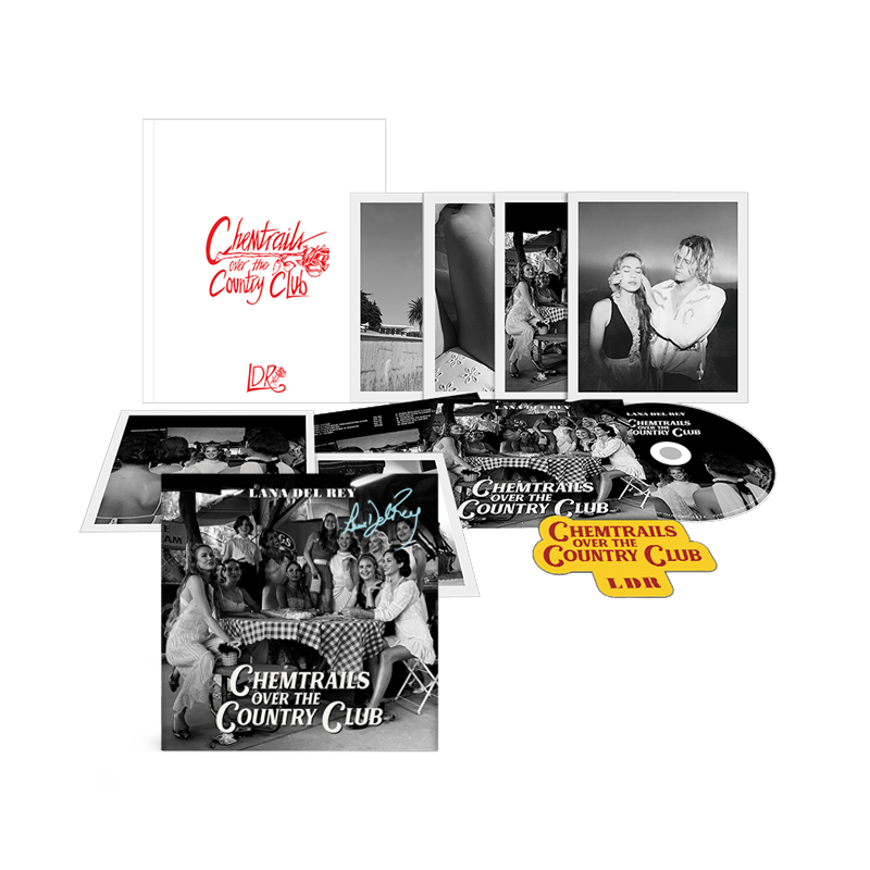 "Carte dédicacée + Box ""Chemtrails Over The Country Club"""