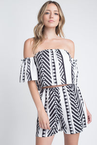 Aztek Off Shoulder Dress