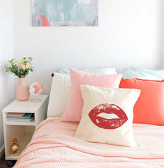 Lips Pillow Cover.