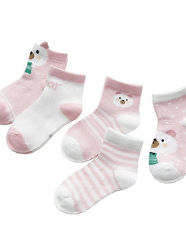 5 pairs of cotton socks for kids
