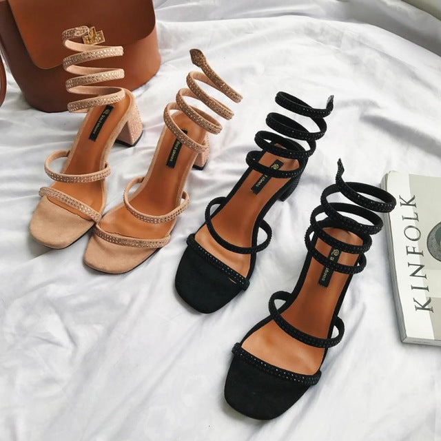Solid color fashion women summer sandals