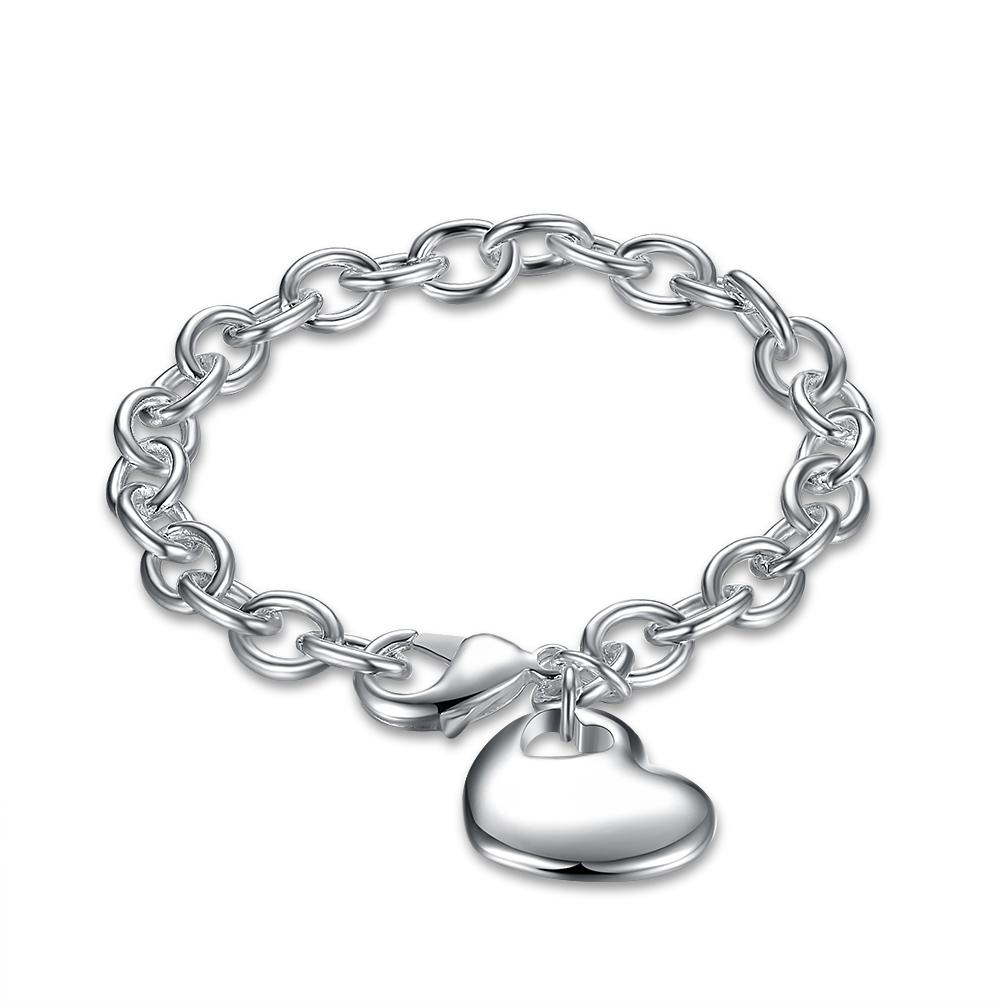 simple bracelet with heart.
