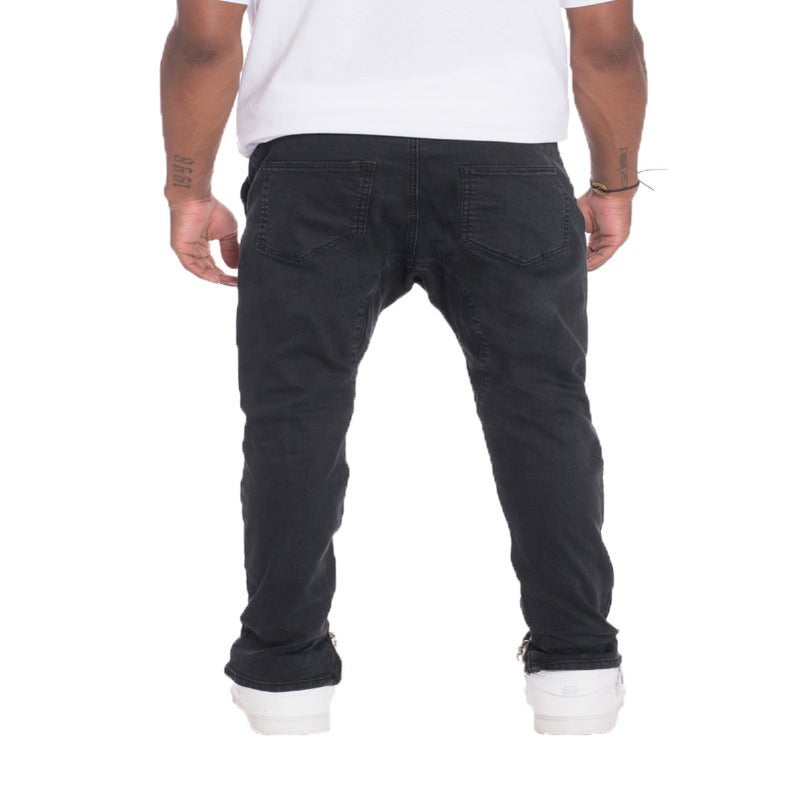 STRETCH DENIM- BLACK.