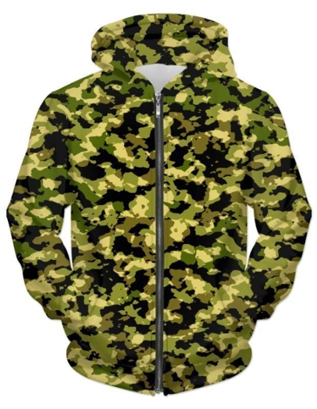 Camouflage UNISEX ZIP HOODIE - Clothes&Fashions