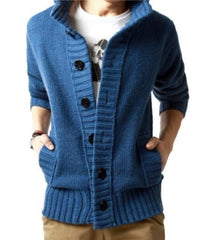 Mens High Collar Cardigan.