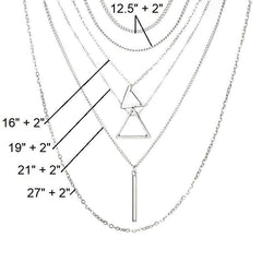 Double triangle multilayer necklace - Clothes&Fashions