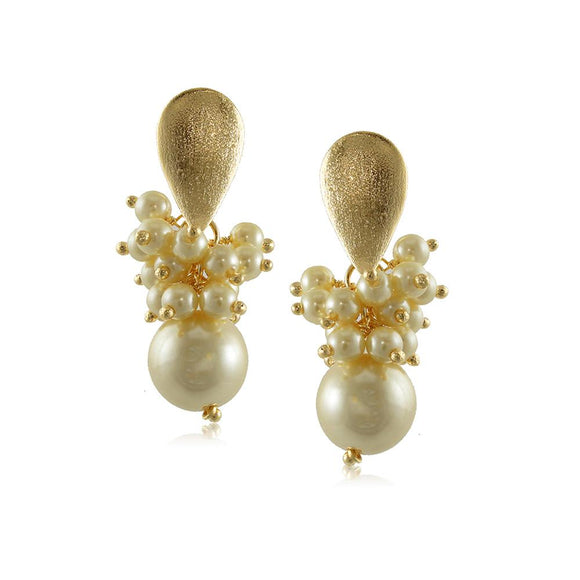 10008R 18K Gold Layered Earring Pearl