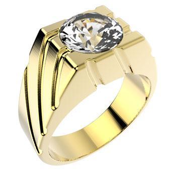 10041 18K Gold Layered CZ Ring