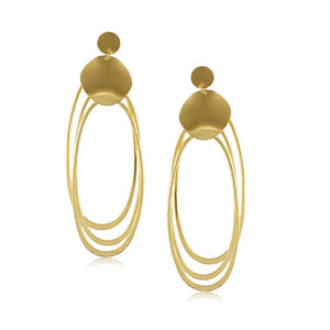 10049R 18K Gold Layered Earring