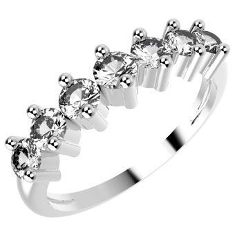 10072P CZ 925 Silver Women's Ring