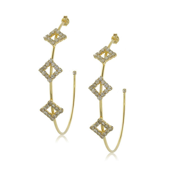 10190R 18K Gold Layered Hoop Earring