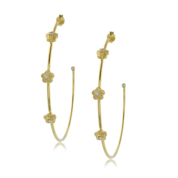 10193R 18K Gold Layered Hoop Earring