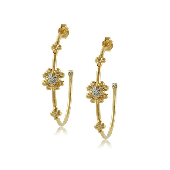 10201R 18K Gold Layered Hoop Earring