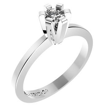 10522P CZ 925 Silver Women's Ring