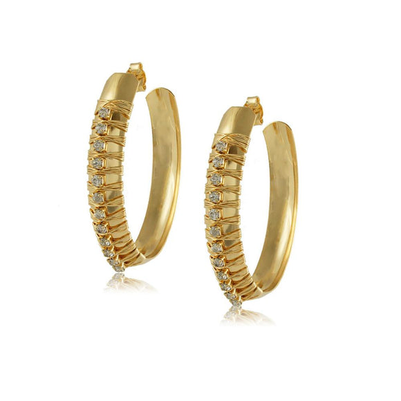 10775R 18K Gold Layered Earring