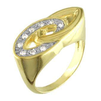11356 18K Gold Layered CZ Women's Ring