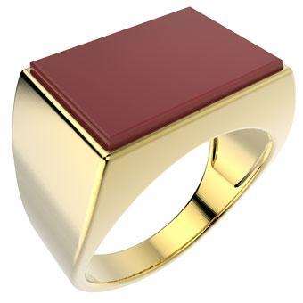 11517 18K Gold Layered Men's Ring