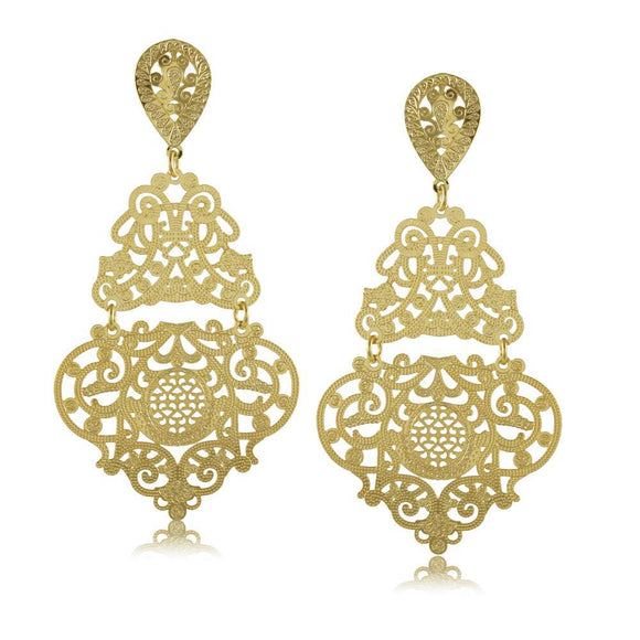 11739R 18K Gold Layered Earring